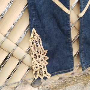 Lucky brand Jean's with lace accents
